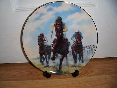 ROYAL DOULTON GREAT RACEHORSES PLATE ~ NIJINSKY ~ PN190 ~ 1st QUALITY ~ MINT