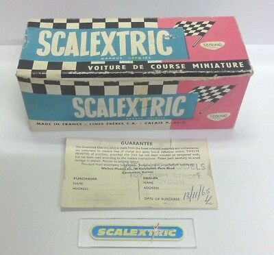 SCALEXTRIC LINES FRERÈS Vintage 1960's 4.5L GREEN BENTLEY 1929 C64 (BOX+) FRENCH