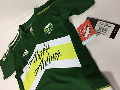 Portland Timbers 2016/17 Home Shirt Brand New With Tags Kids Medium 5/6 Adidas