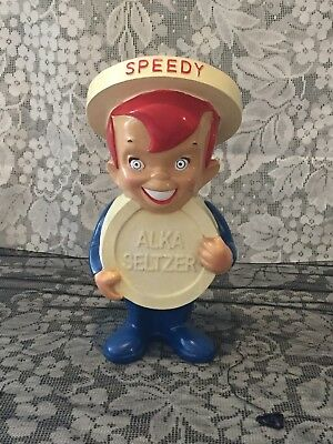 "Speedy Alka Seltzer 9"" Ployresin Advertising Figure Collectable 2008 For Bayer"