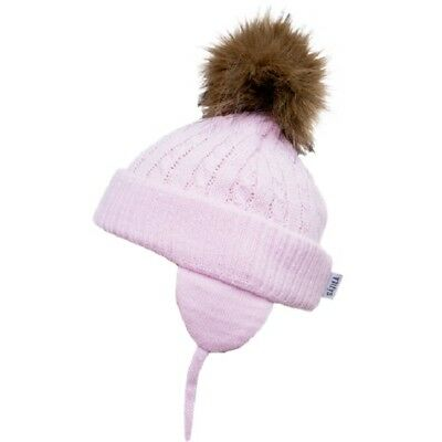 Satila PIPER Faux Fur Pom Hat in 5 colour SIZE 0-5 months to 3-5 yrs!