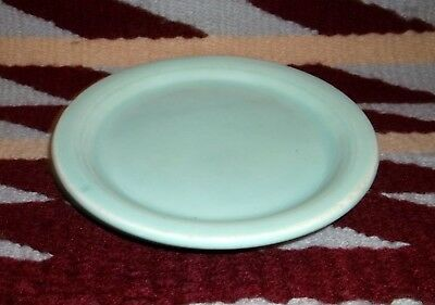 "Vernon Kilns Modern California Light Green  4 1/2"" Coaster Cup Warmer Plates"
