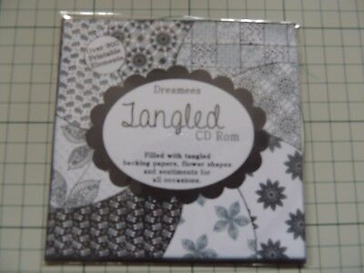 Dreamees 'Tangled' CD Rom - Lots of Colourways - Not Just Black & White