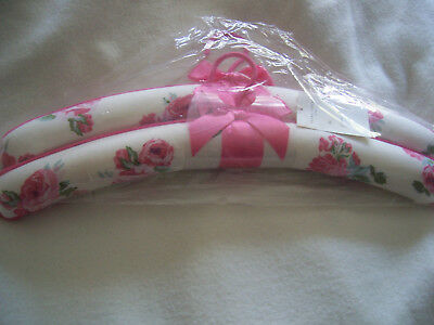 a pair of laura ashley couture rose padded coat hangers, bnip