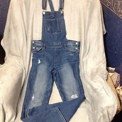 Girls 13-14 years plus size 13-14yx dungarees
