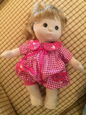 Vintage Mattel My Child Doll. Brown Eyes Blond Hair With Highlights