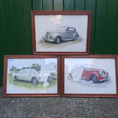 Set 3 Framed & Glazed Alvis Prints. Graham Bosworth 1996/98.TA14,TA21 & Graber.