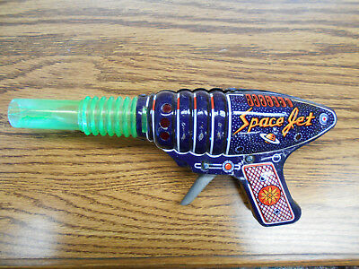 1960s Space Super Jet Gun friction Tin Toy Vintage Japan  Works!
