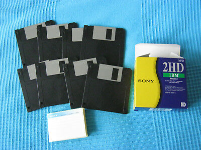 8 Sony 2HD 3.5 formatted floppy disks