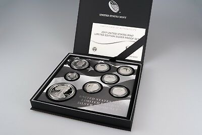 2017 S United States Mint Limited Edition Silver Proof Set Silber 8 Münzen