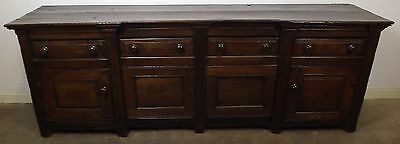SUPERB ANTIQUE C18th SOLID OAK LARGE DRESSER BASE SIDEBOARD GEORGIAN COUNTRY
