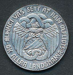 5 KR 1930 Althing SILVER Coin Iceland KM # M2 M0006