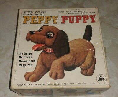 Vintage PEPPY PUPPY  Battery Operated Toy with box
