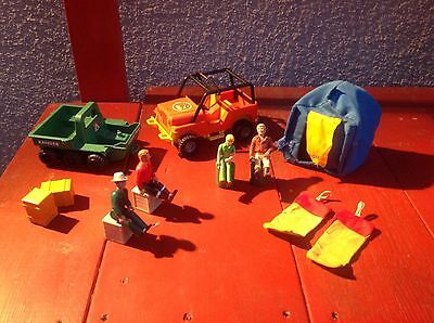 Fisher Price Adventure People-Action Figures,Jeep,tent And More-Look!