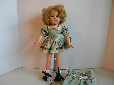 """15"""" VINTAGE COMPOSITION EFFANBEE ANNE SHIRLEY DOLL W/ Extra Dress"""