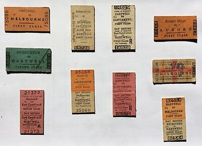 Victorian railway tickets - mixed lot.