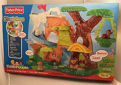 Fisher Price Little People Zoo Talkers Play Set With Figures.Sealed.Made 2011.