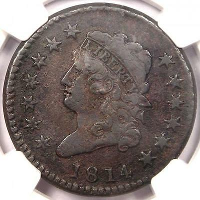 1814 Crosslet 4 Classic Liberty Large Cent S-294 1C - NGC VF - Rare Date Penny