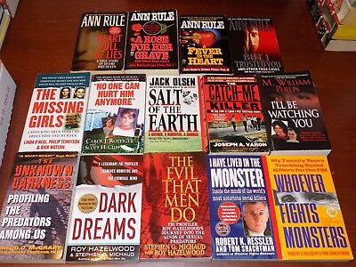 Lot of 14 TRUE CRIME books PB Ann Rule & others