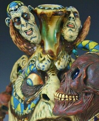 'Jokers are WILD' A Surreal Southern Folk Art Face Jug Sculpture by Ron Dahline