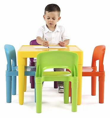 Kids Table and Chairs, Toddler Play Set for In & Outdoor Child Toy Activity