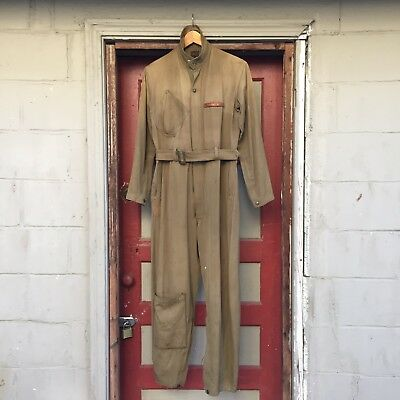 1930s HD Lee House Mark Army Air Force A4 Flight Suit Named Pre World War 2
