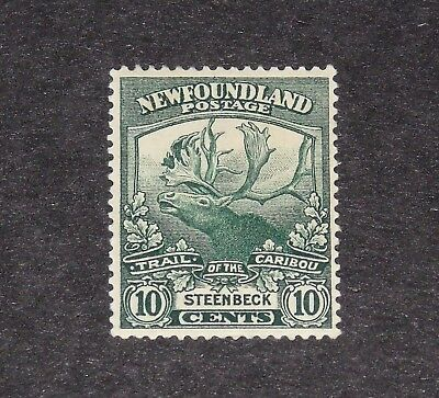Stamp Pickers Newfoundland 1919 Caribou 10 Cents Scott #122 MH OG $30