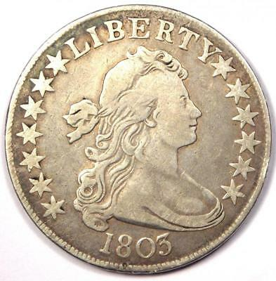 1803 Draped Bust Half Dollar 50C - VF Details (Very Fine) - Rare Coin!