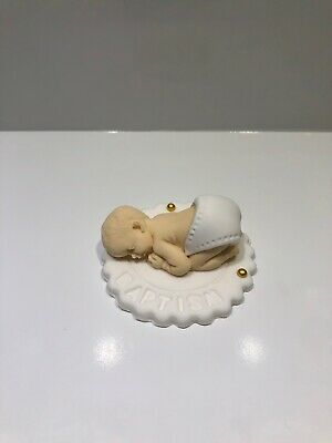 1 x EDIBLE BABY SLEEPING 3D CUPCAKE TOPPER CHILDREN BIRTHDAY CAKE FONDANT