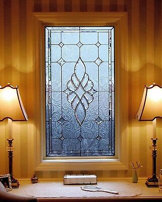 Leaded Glass Panel Hand Cut Hand Leaded