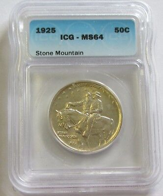 1925 Stone Mountain Commemorative Icg Ms 64