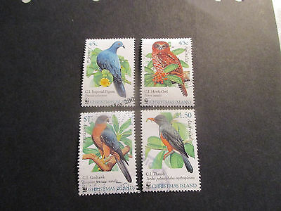 2-- Christmas  Island  --2002  Bird  Issues  -4  Stamps  -Great  Lot