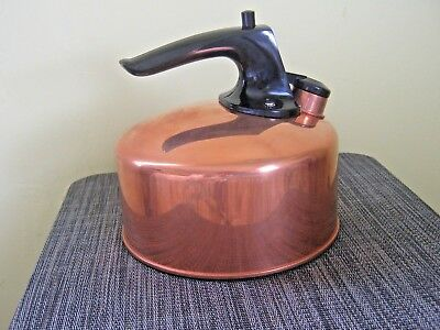 Vintage Revere Ware SOLID Copper Tea Kettle #8041, 6 Cup, Rome, NY,  NEW IN BOX