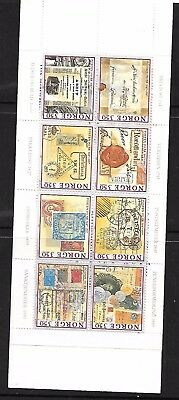 8 x 1995 Norway Stamps in booklet (350th Anniversary of postal service)