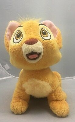 Lion King Disney Store Exclusive Simba Baby Cub Plush Stuffed Lion. Clean.