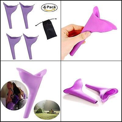 4 Go Girl Female Portable Urination Device Pink Travel Camping Outdoors Funnel