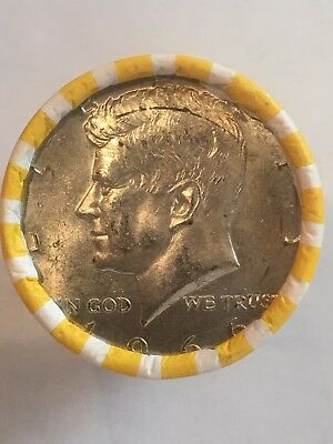 Unsearched Loomis Roll of Kennedy Half Dollar Coins with 40% 1966 ender!