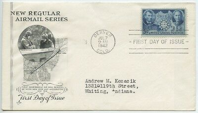 1942 FDC, CHINESE RESISTANCE  on AIRMAIL COVER