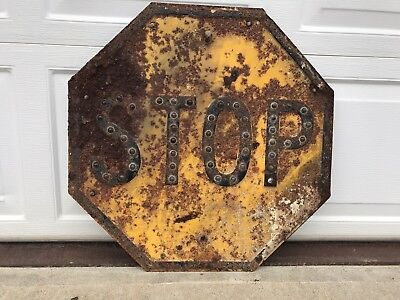 Vintage Yellow Stop Signs