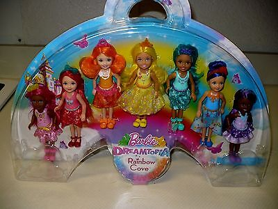 Barbie Dreamtopia Rainbow Cove Doll Gift Set - 7 Pack New In Package