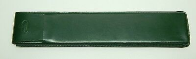 Green leather case for slide rule Faber Castell Germany fits 2/83N Case only