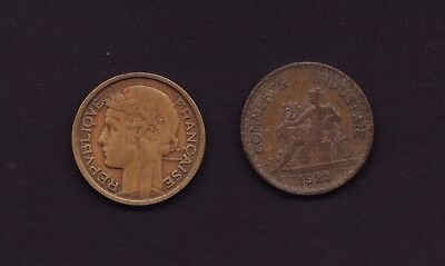 France 1 Franc 1923 and 1932 Coins