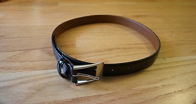 Boy's Brooks Brothers Black Leather Belt-Size 10-12 (26 Inches) Great Condition