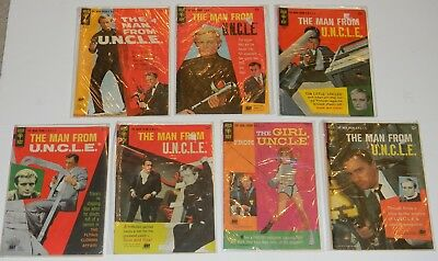 Vintage Man From Uncle Girl From Uncle Gold Key Comic Book Lot Of 7 Different