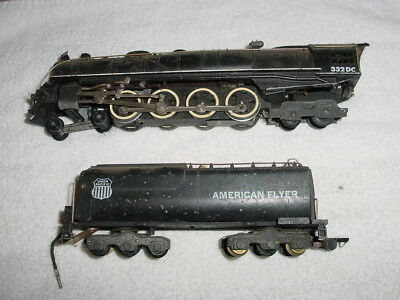 American Flyer No.332 Dc  Steam Locomotive & 12-Wheel Tender 1948