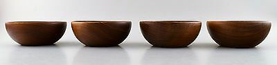 Kay Bojesen, danish artist. 4 bowls of teak. Mid 20 c. danish design.