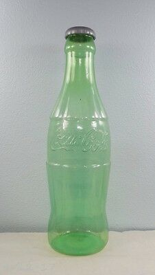 "Vintage Large 24"" Tall Green Tint Plastic Coca Cola Bottle Bank"