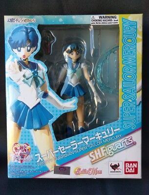 Bandai Tamashii Nations S.H. Figuarts Sailor Moon Super Sailor Mercury Authentic
