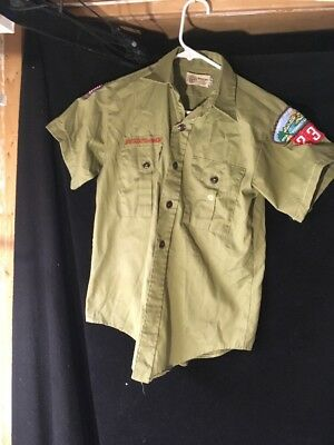 BOY SCOUTS OF AMERICA Uniform Short Sleeve Shirt Youth Size Not Marked/w/ Patch