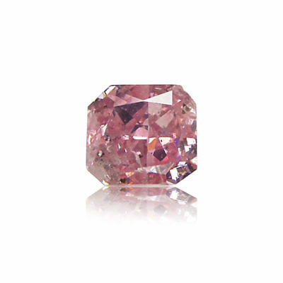 Pink Natural Diamond 0 .15 Ct Fancy Intense GIA Certified Real Radiant Cut